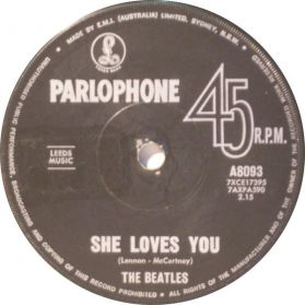 """The Beatles – She Loves You / I'll Get You - 1963 Rock - Australia Issue 7"""" 45"""
