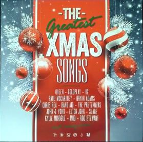 The Greatest Xmas Songs -  2019 Christmas Compilation -  White and Red Vinyl 180 Grm 2LP + Insert