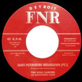 "The Soul Surfers - Saint-Petersburg Breakdown - 2012 Funk 7"" 45 RPM"
